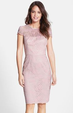 Lavender pink lace cocktail dress Spring Wedding Guest Dresses