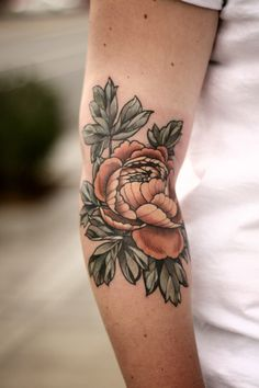 Wonderland Tattoos — Peony for Julia by Alice Kendall on a very swollen...