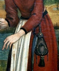 women's clothing 15th century purse