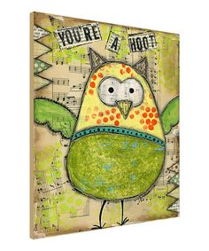 This 'Hoot' Wall Art is perfect! #zulilyfinds