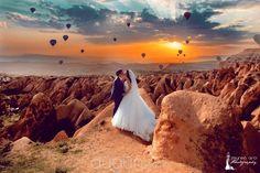 Sunset in Cappadocia.