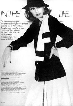 Vogue Editorial November 1973 - Berverly Johnson, Denise Hopkins, Anne Holbrook & Barbara Minty by Bob Stone