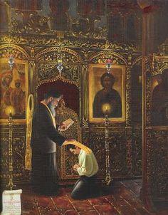 Η Χριστιανική Ηθική και η Βιοηθική στην Εκπαίδευση: Εξομολόγηση - εξομολόγος - εξομολογούμενος Russian Orthodox, Orthodox Christianity, Religion, Faith, Painting, Quotes, Quotations, Painting Art, Paintings