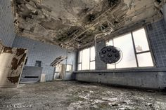 The operating theater in a secret abandoned Russian clinic in Berlin.