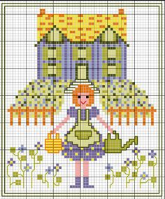 > Country Girl - Cross Stitch | rusensdiary