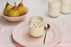 Receta de yogur casero con pera | El Dulce de Pau