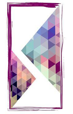 Color romb composition.