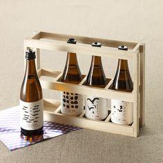 島シリーズ 利き酒セット Beverage Packaging, Bottle Packaging, Bottle Labels, Brand Packaging, Label Design, Package Design, Wine Bottle Design, Plum Wine, Japanese Sake