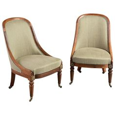 Pair of Regency Bergères | From a unique collection of antique and modern bergere chairs at https://www.1stdibs.com/furniture/seating/bergere-chairs/