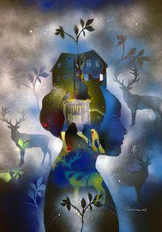 THE ARRIVAL - NORTHERN LIGHTS | Randi Antonsen Artist and art teacher