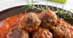 This delicious and easy meatball recipe has rosemary in it and is made a bit healthier with farro add to the mixture. The meatballs are baked which is so much easier than frying them.