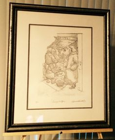 """Seymour Rosenthal NYC Artist Rare Original Lithograph """" Grocery Boutique"""" 25/200 Hand Signed Silver Frame Free Shipping Always Negotiable ! by USANOW on Etsy"""