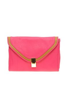 ASOS Boxy Flat Lock Clutch from http://cupcakesandcashmere.com/tempered-brights