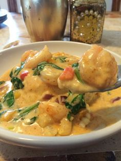 Mardi Gras Shrimp and Grits... Great for Brunch, Lunch, or Just because.. So rich and smooth, you won't be able to get enough
