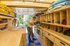 on Wheels: Ron Paulk on the Design of His Mobile Woodshop, Part 1 Workshop Design, Workshop Storage, Workshop Organization, Home Workshop, Garage Workshop, Work Trailer, Utility Trailer, Van Storage, Tool Storage