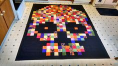 Skull quilt with instructions.