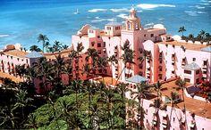 Royal Hawaiian Hotel, Waikiki  aka Pink palace is one of the first Hotels established in Waikiki, opened its doors on February 1, 1927