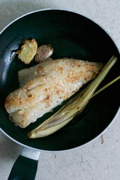 Pan Fried Red Snapper with Lemongrass Butter (sub coconut oil, ghee, or other fat for the butter) / Comfort Bites