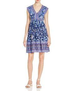 Rebecca Taylor Dreamweaver Printed Silk Dress | Bloomingdale's
