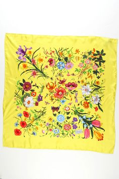 GUCCI Ladies' Flora Scarf In Yellow  $329.99