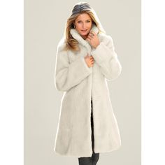 Venus Women's Faux Fur Jackets & Coats ($100) ❤ liked on Polyvore featuring outerwear, coats, white, fake fur coat, faux fur coat, white fake fur coat, imitation fur coats and white coat