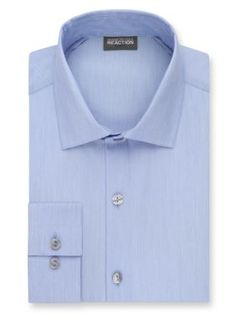 Kenneth Cole Reaction Blue Jay Slim-Fit Techni-Cole Stretch Dress Shirt