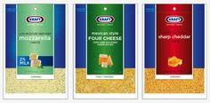 Kraft Shredded Cheese by Mandy Smedley, via Behance