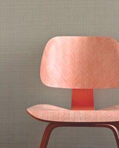 Herringbone Eames chair DIY via Martha Stewart. Design Furniture, Chair Design, Diy Furniture, Antique Furniture, Modern Furniture, Eames, Home Design, Modern Design, Design Design