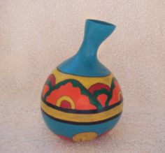 Blue India Gourds, India, Vase, Home Decor, Homemade Home Decor, Pumpkins, Rajasthan India, Flower Vases, Indie