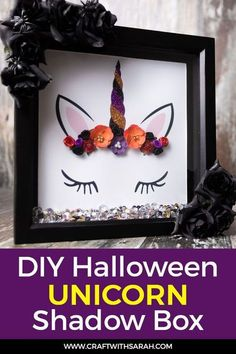 Do you love Halloween AND unicorns? Combine them both in this fun Halloween unicorn box frame and fill your home with spook-tacular DIY Halloween decor.