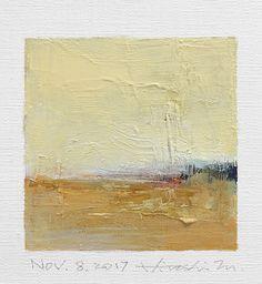 "Nov. 8, 2017 9 cm x 9 cm (app. 4"" x 4"") oil on canvas  © 2017 Hiroshi Matsumoto"
