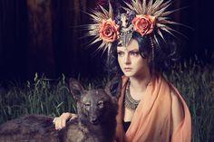 Photographer: Vlad Savin Stylist/Headdress: Shunyata Hair/Makeup: Amanda Lissant-Clayton Model: Elena K