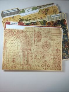 How to Make Pretty File Folders From One Sheet of Paper. Snapguide by Annette Green.