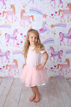Dreaming of Unicorns -  Photography Printed Backdrop Prop - Newborn Photography Backdrop - Poly Paper - Wrinkle Free Fabric - Backdrop