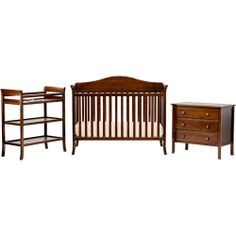 Baby Mod - Bella 4-in-1 Fixed Side Crib, Changing Table and Clothing Organizer, Espresso - $299.00