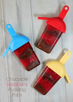 Chocolate Raspberry Pudding Pops