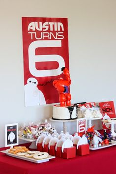 Wants and Wishes: Party planning: Big Hero Baymax inspired birthday 6th Birthday Parties, Birthday Party Decorations, Boy Birthday, Party Themes, Birthday Ideas, Disney Birthday, Stage Decorations, Birthday Party Background, Happy Birthday Banners