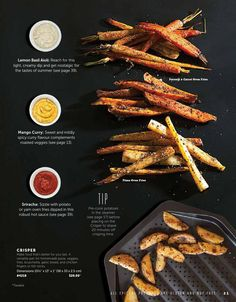 #ClippedOnIssuu from Epicure | Fall & Winter Catalogue 2014 Carrots In Oven, Basil Aioli, Mango Curry, Lemon Basil, How To Cook Potatoes, Fries In The Oven, Yams, Spicy, Roast