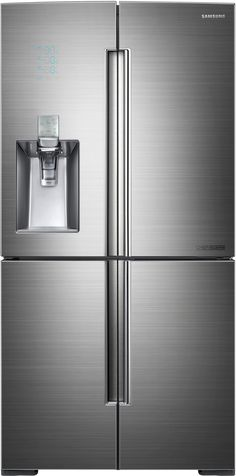 $5400 19.1/7.5/7.6 cu ft fridge/drawer/freezer Samsung RF34H9960S4 36 Inch French Door Refrigerator with 34.3 cu. ft. Capacity, 4 Spillproof Glass Shelves, Gallon Door Storage, Door Flex, Triple Cooling, Chef Mode, Sparkling Water Dispenser, Fridge in Freezer and ENERGY STAR