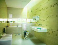 84 Best Green Bathrooms Images Green Bathrooms Bathroom Ideas - Green-bathroom-tile
