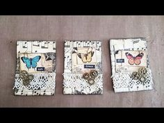 ATC: Steampunk Butterflies - YouTube
