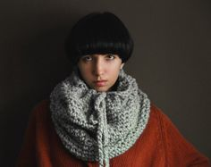 The Nantucket Cowl in Toasted Marshmallow by Yokoo on Etsy