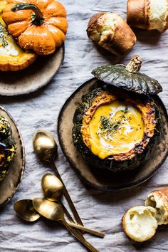 A Mouthful of Comfort: Cheddar Apple Pumpkin Soup With Sage Popovers - - POPSUGAR is bringing you an exclusive look at Thanksgiving recipes from famous lifestyle influencers. We're excited to present the first online look at this. Thanksgiving Recipes, Fall Recipes, Soup Recipes, Martini Recipes, Thanksgiving Activities, Thanksgiving 2020, Delicious Recipes, A Food, Food And Drink
