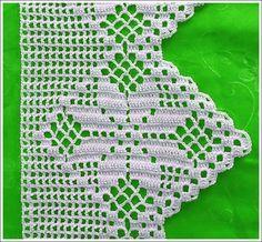 Crochet Edgings Design By Mariza Crochet Designer: Barradinhos crochet . alguns com gráficos. Crochet Blanket Edging, Crochet Edging Patterns, Crochet Lace Edging, Crochet Borders, Filet Crochet, Love Crochet, Beautiful Crochet, Crochet Doilies, Crochet Stitches