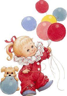 Christian Friends, Beautiful Gif, Gifs, Cute Gif, Cute Illustration, Animals For Kids, Illustrators, Art For Kids, Balloons