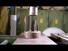 Crushing metal pipes with hydraulic press - YouTube