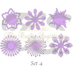 Diy paper flowers these are made with construction paper svg set 4 6 different flat center for paper flowers machine use only cricut and silhouette diy and handmade giant paper flower templates mightylinksfo