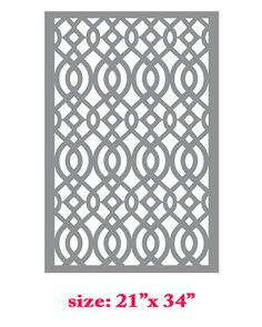 Stencil Boss | Claudia Lattice Allover Designer Pattern Wall Stencil | Online Store Powered by Storenvy
