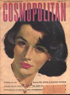Cosmopolitan magazine, JULY 1949 Artist: Edwin Georgi Collage Vintage, Vintage Posters, Vintage Art, Vintage Style, Old Magazines, Vintage Magazines, Life Magazine, Magazine Art, Magazine Stand