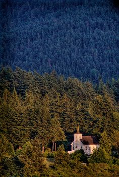 Beautiful little church ♥ Lummi Island Congregational Church, Lummi Island, Washington, USA Abandoned Churches, Old Churches, Old Country Churches, Take Me To Church, Cathedral Church, Church Building, Chapelle, Old Barns, Place Of Worship